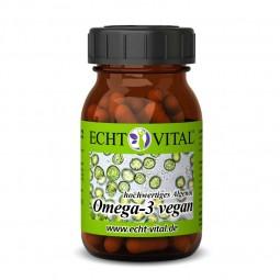 ECHT VITAL Omega-3 vegan - 1 Glas mit 60 Kapseln