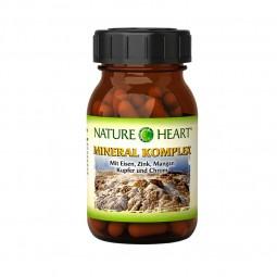 Nature Heart Mineral Komplex - 1 Glas mit 60 Kapseln
