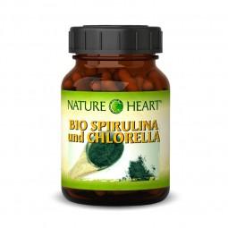 NATURE HEART Bio Spirulina und Chlorella - 1 Glas mit 365 Presslingen