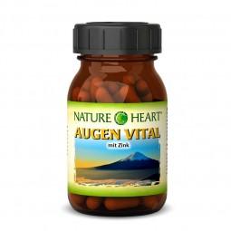 NATURE HEART Augen Vital - 1 Glas mit 60 Kapseln
