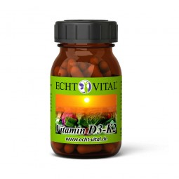 ECHT VITAL VITAMIN D3 / K2 - 1 Glas mit 60 Kapseln