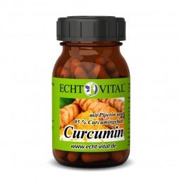 ECHT VITAL Curcumin - 1 Glas mit 60 Kapseln