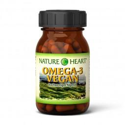 NATURE HEART Omega-3 vegan - 1 Glas mit 60 Kapseln