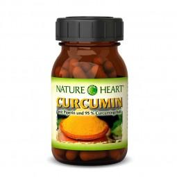NATURE HEART Curcumin - 1 Glas mit 60 Kapseln