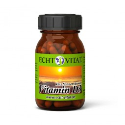ECHT VITAL VITAMIN D3 - 1 Glas mit 60 Kapseln
