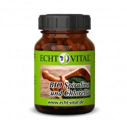 ECHT VITAL Bio Spirulina und Chlorella - 1 Glas mit 365 Presslingen